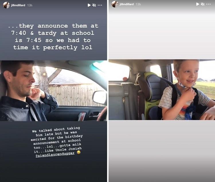 Jill Duggar Derick Dillard Radio Greetings Instagram