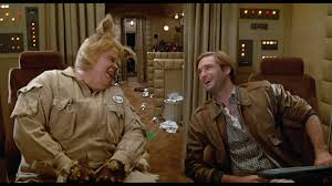 Spaceballs is a rather sluggish but occasionally funny sci-fi spoof.