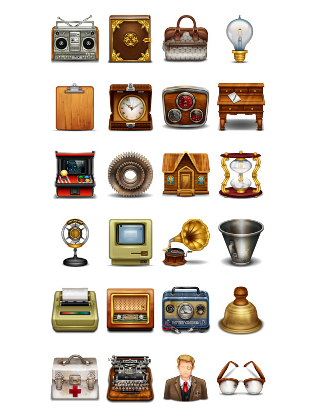 Web Vintage Icons