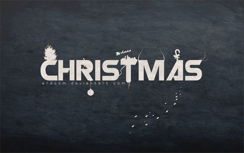 christmas typography wallpaper design