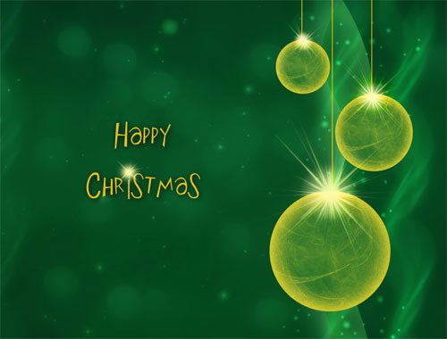 happy christmas green desktop background