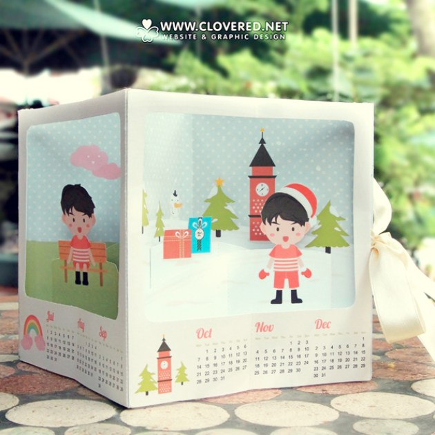 2013 Pop-up Calendar | 2 Themes