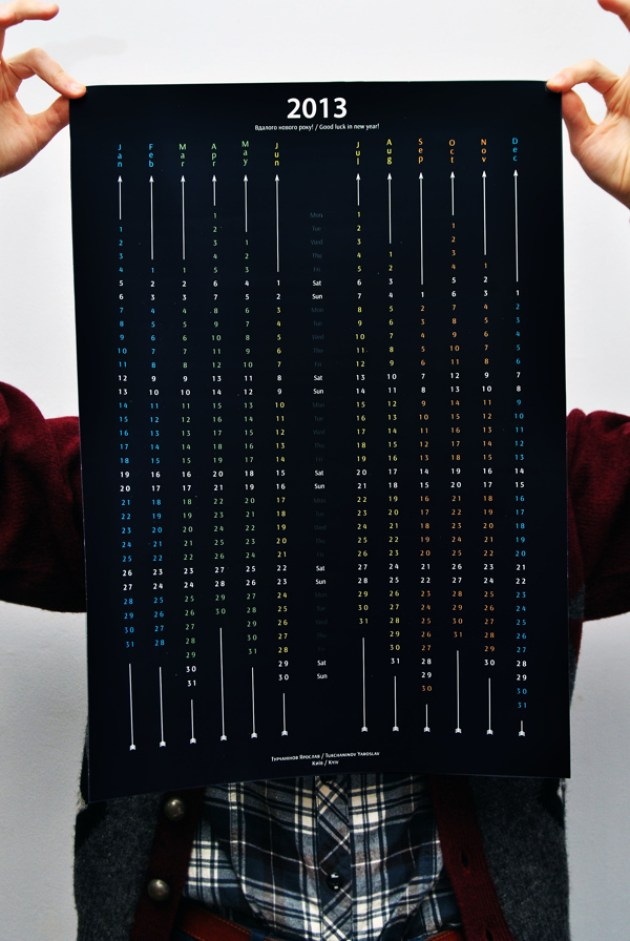 awesome black Calendar 2013