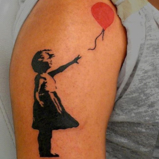 Banksy Red Balloon Girl