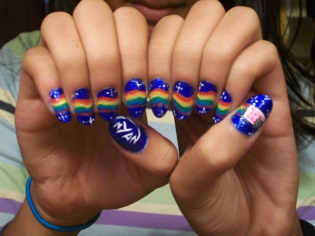 NAILS: Nyan cat
