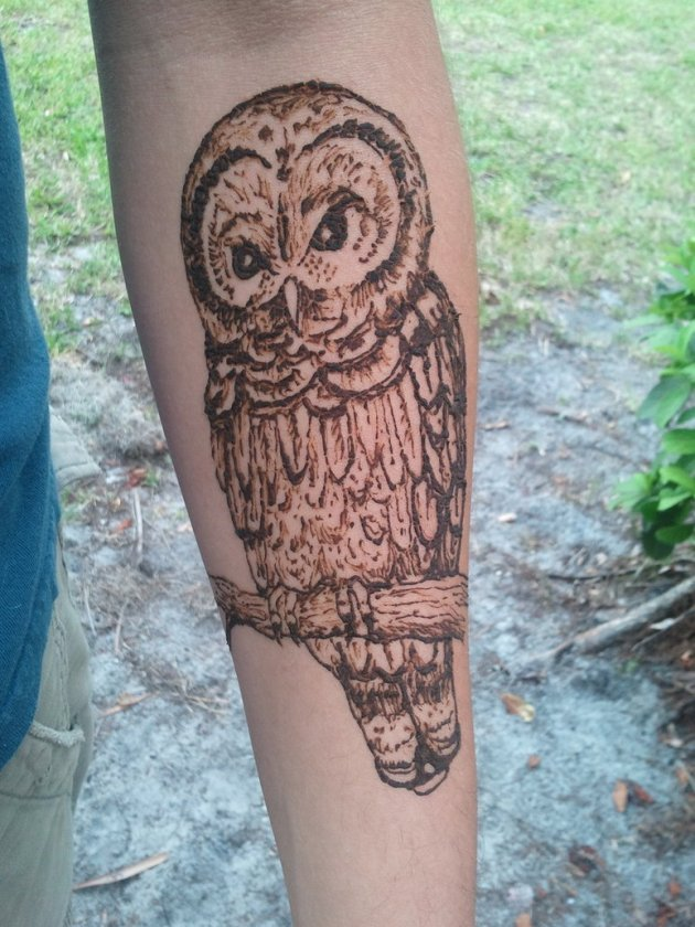 Owl Henna