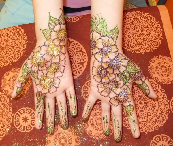 Glittery Henna Eid