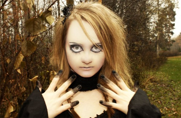 Halloween Doll Makeup