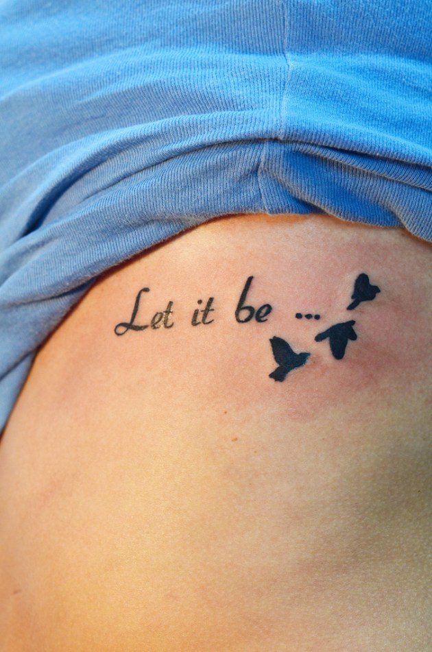 30 cool let it be tattoo designs