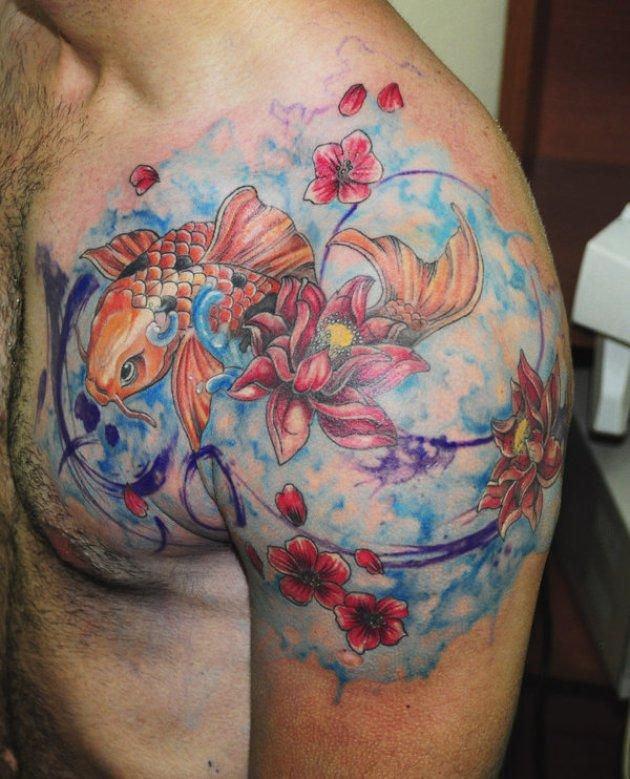 koi fish watercolor