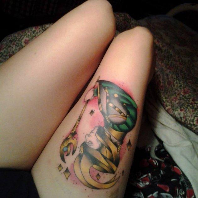 Loki Thigh Tattoo