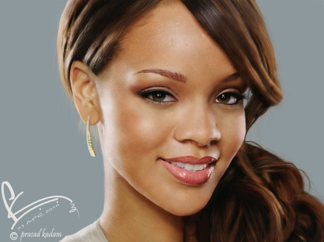 Digital Painting - Rihanna
