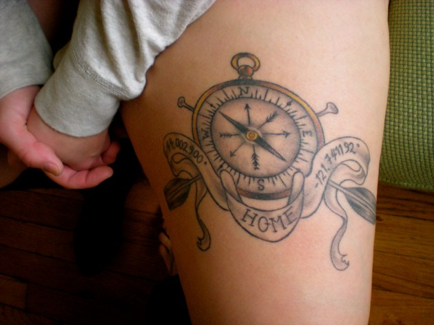 nautical coordinates plus compass