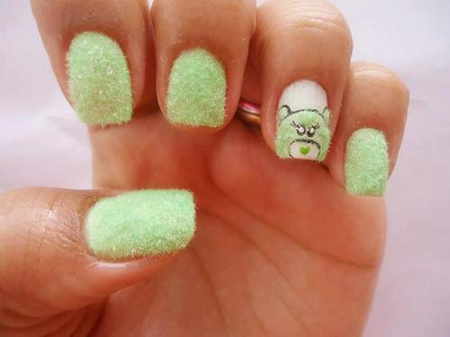 green grass bear nail