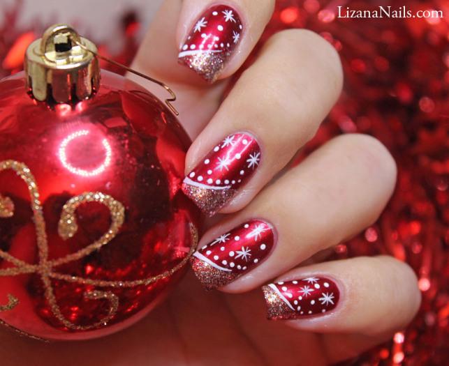 Christmas Snowflake Nail Art Tutorial
