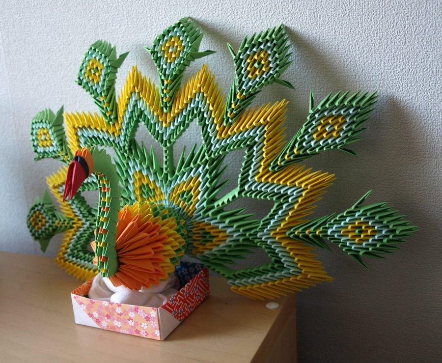 Russian Peacock 3D Origami