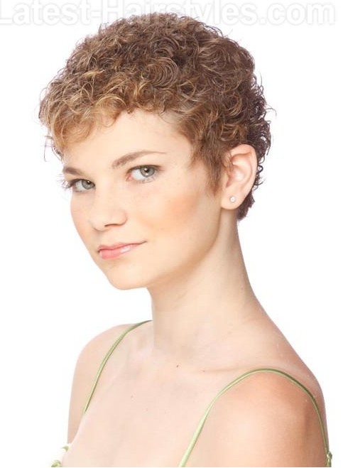 Pixie Haircut for Curly Short Hair