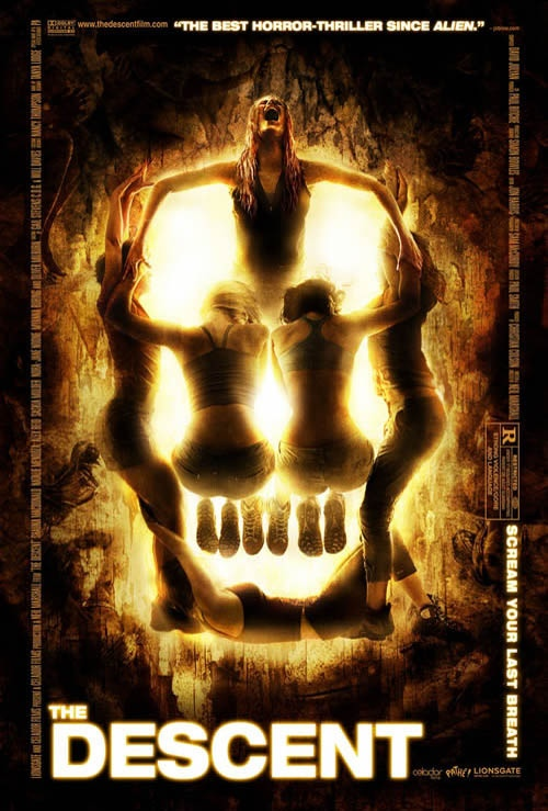 The Descent creative movie poster design