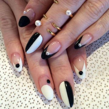 13 black and white nails