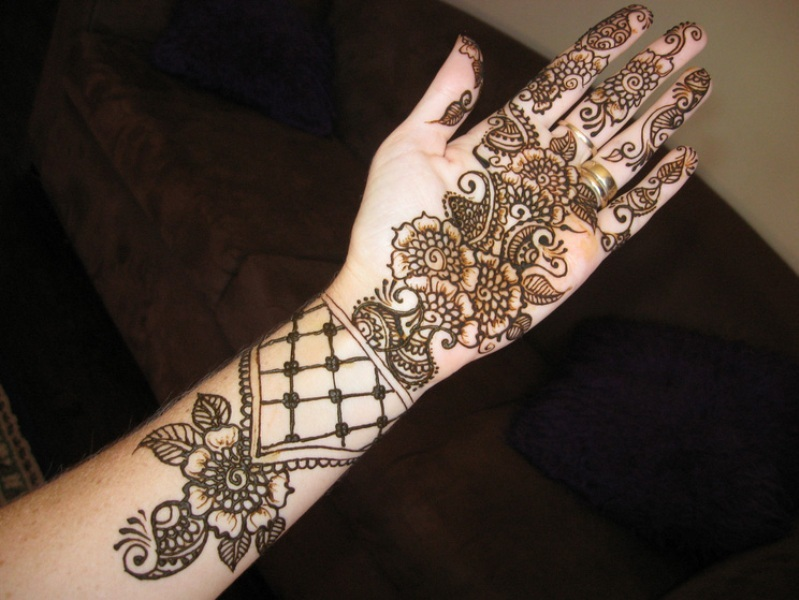 Mehndi Designs Hands Arabic Latest : Beautiful arabic henna mehndi designs for girls hands