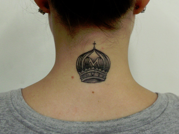 attractive royal crown tattoo