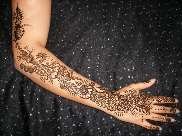 back hand arabic mehndi designs