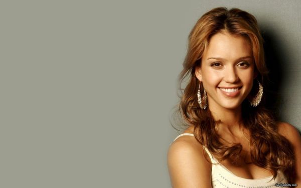 jessica alba brunette hair wallpaper