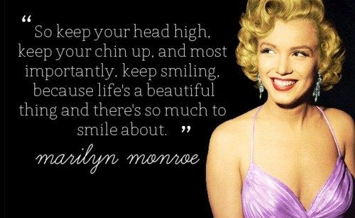 best marilyn monroe quote about life