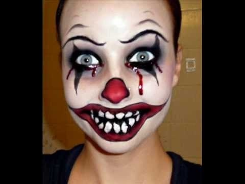 20 scary clown face paint ideas for halloween 2015 entertainmentmesh. Black Bedroom Furniture Sets. Home Design Ideas