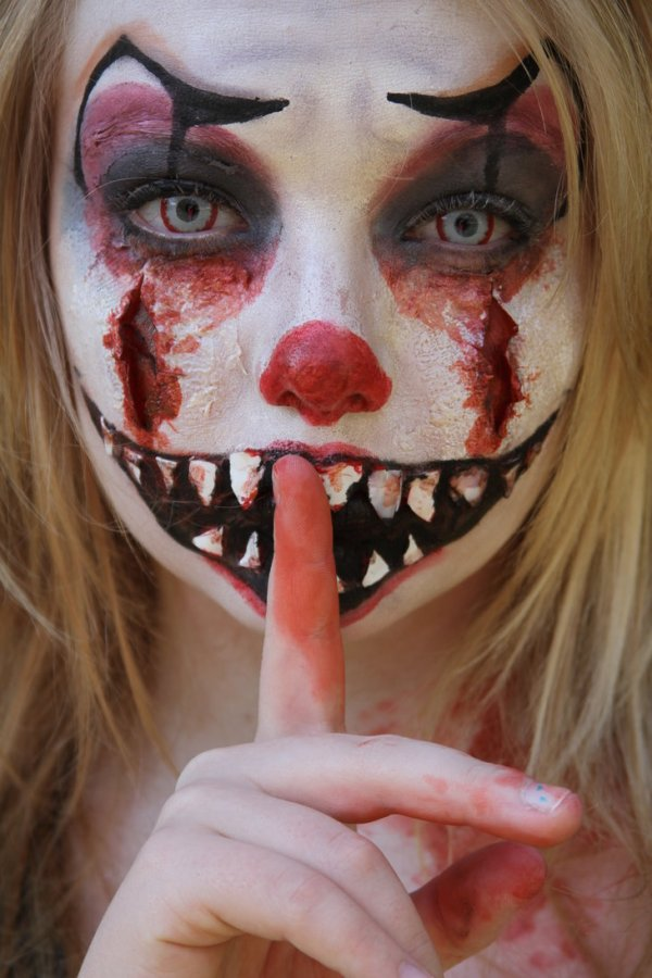 halloween makeup ideas - killer clown makeup