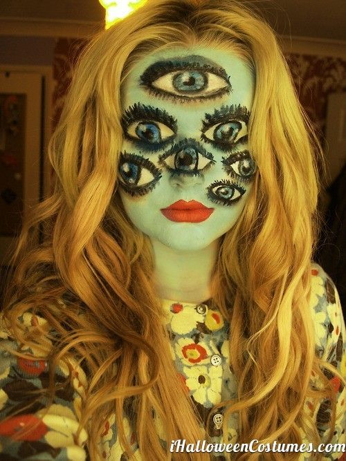 crazy creepy face makeup for halloween