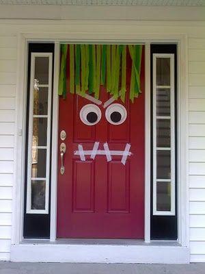 spooky door halloween craft decor ideas for kids
