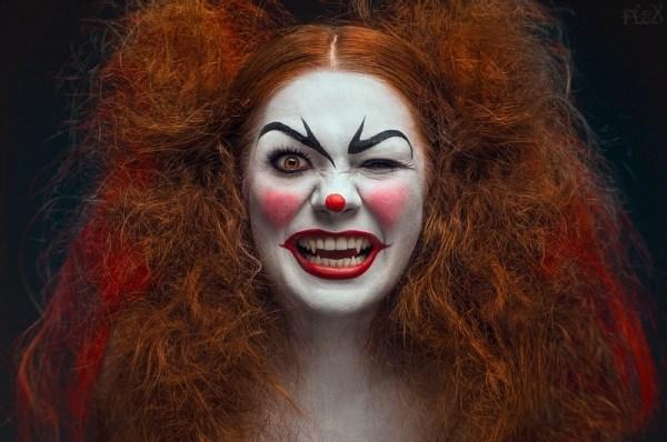 too evil clown face