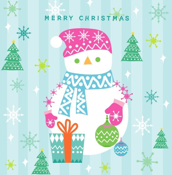 colorful-merry-christmas-snowman-graphic-image