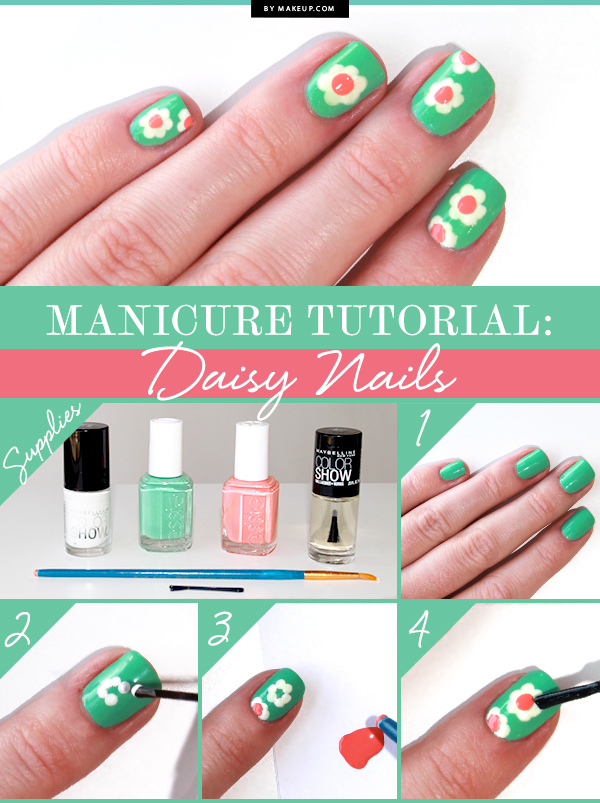 DIY Daisy Nails