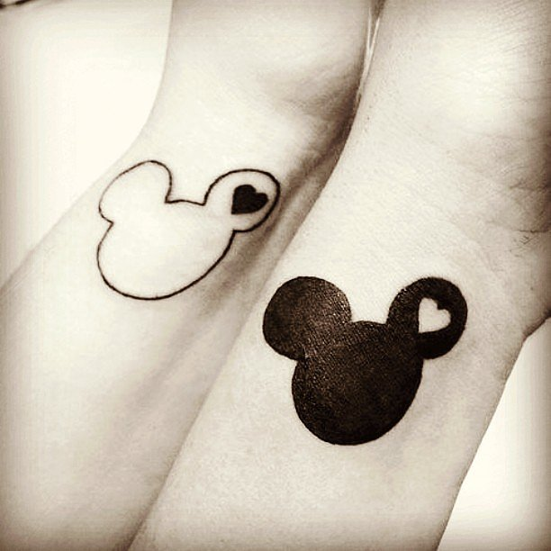 30b6477d2 19 Adorable Disney Character Mickey and Minnie Mouse Tattoos ...