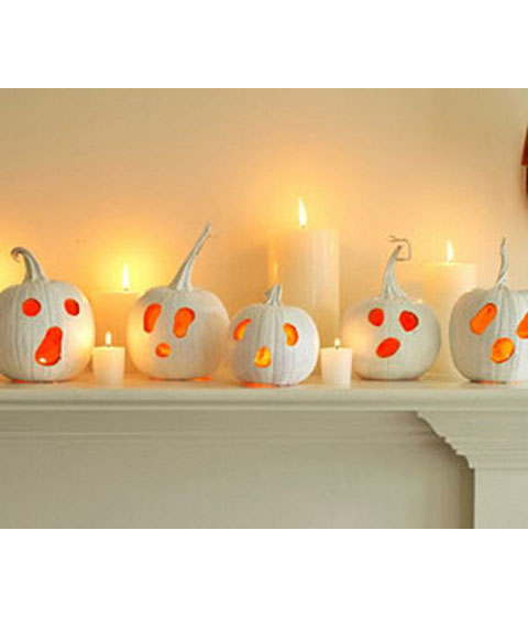 White Scary pumpkin-decoration-ideas