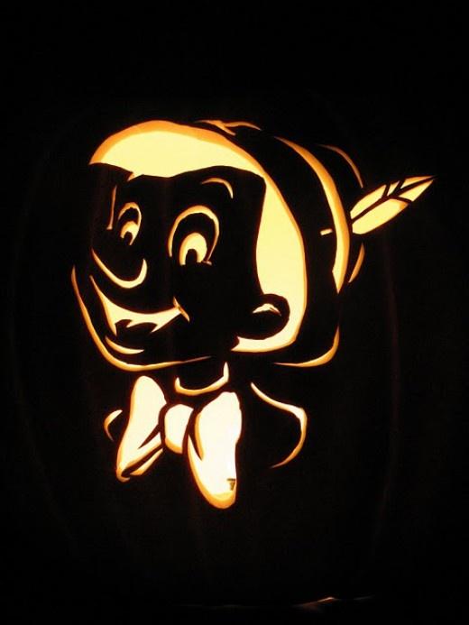 Minnie Mouse Jack O Lantern Stencil
