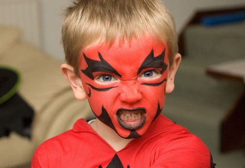 the-devil-kid-face-painting
