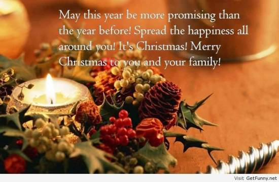 Merry Christmas message photo