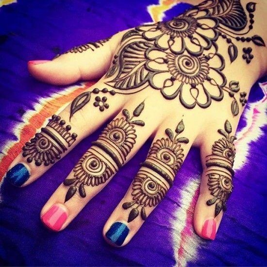 flower henna designs