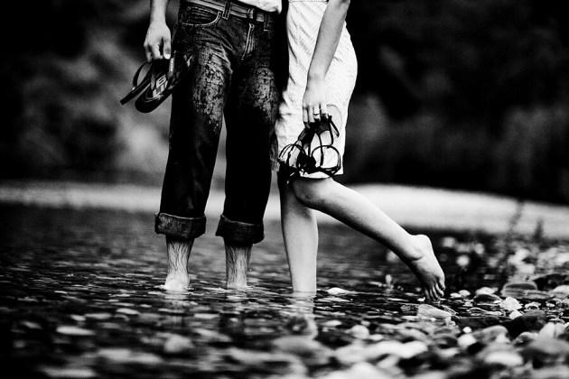 barefoot walk in rain