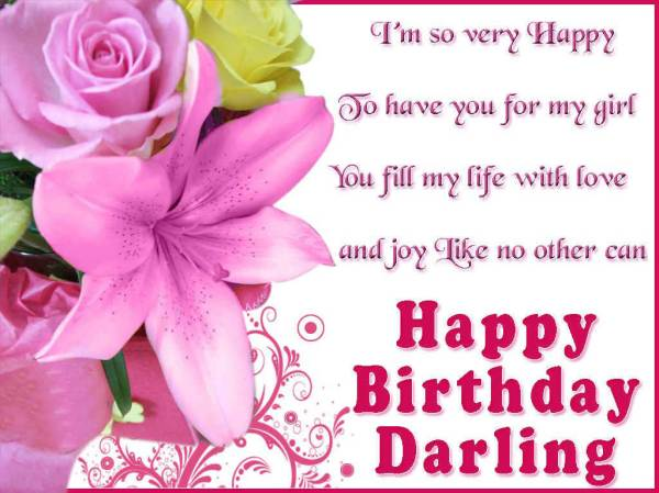 happy birthday darling