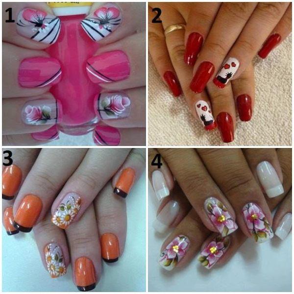 Romantic Floral Manicure