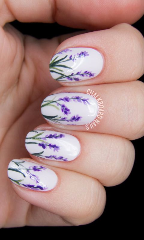 lavender nail manicures