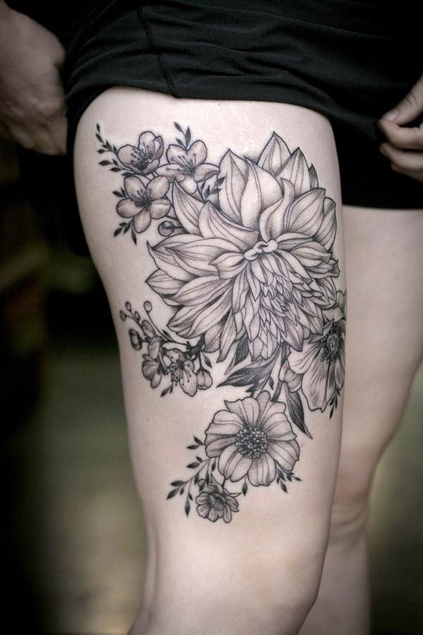 dahlia flower tattoo entertainmentmesh rh entertainmentmesh com dahlia flower tattoo small black dahlia flower tattoo meaning
