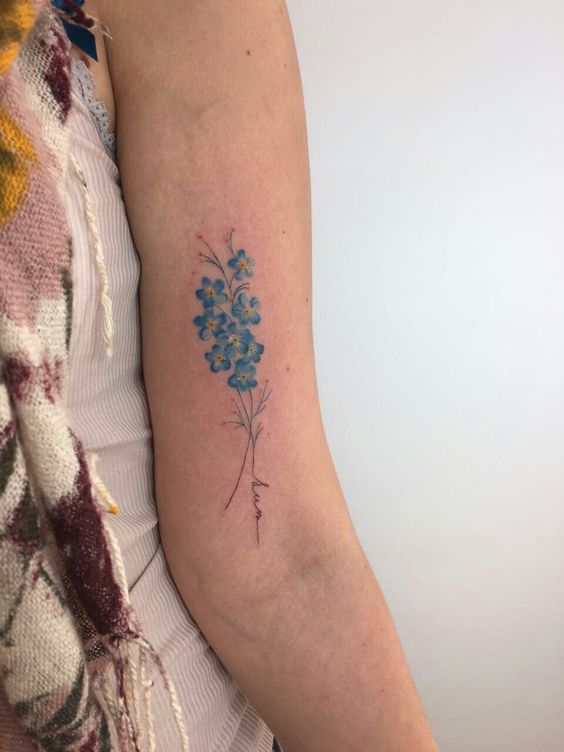 forget me not flower tattoo