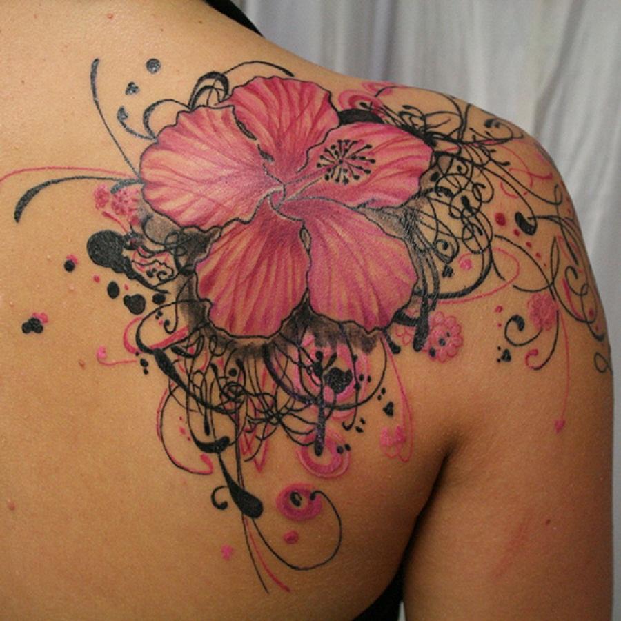 Hibiscus flower tattoo entertainmentmesh hibiscus flower tattoo izmirmasajfo Images