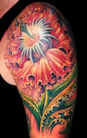 passion flower tattoo
