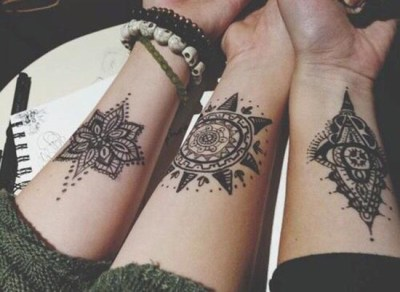 Geometric henna patterns